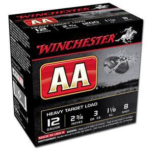 "Winchester AA Heavy 12 Ga 2.75"" #8 Lead 1.125 oz 25 rds"