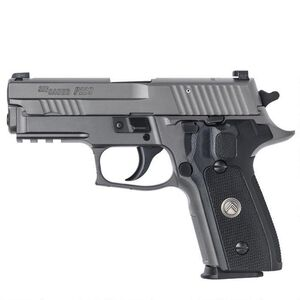 "SIG Sauer P229 Legion Compact Semi Auto Pistol 9mm Luger 3.9"" Barrel 10 Rounds X-Ray Square Sights SIG Rail G10 Grip State Compliant Trigger Alloy Frame PVD Gray Finish"