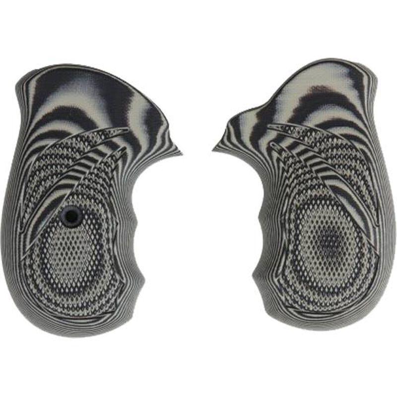 Pachmayr G10 Tactical Grips S&W J Frame Checkered Laminate Black/Gray 61161
