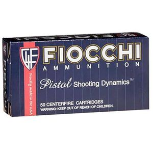FIOCCHI Shooting Dynamics .38 Super Ammunition 50 Rounds FMJ 129 Grains 38SA