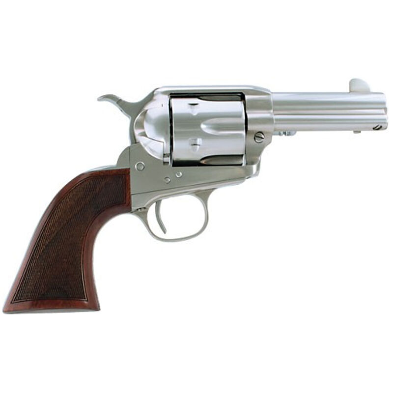"Cimarron Model-P Thunderstorm Revolver .45 LC 3.5"" Barrel 6 Rounds Walnut Grips Stainless Steel CAA516TSTM10G27"