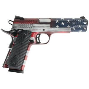 "Citadel 1911-A1 Full Size 9mm Luger Semi Auto Pistol 5"" Barrel 8 Rounds Government Profile Black G10 Grips American Flag Cerakote Finish"