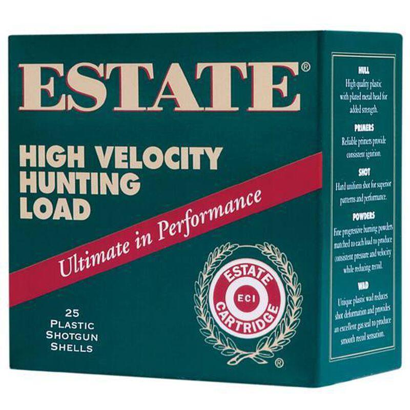 "Estate Cartridge High Velocity Hunting Load 12 Gauge Ammunition 2-3/4"" Shell #4 Lead Shot 1-1/4oz 1330fps"