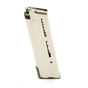 Wilson Combat 1911 Elite Tactical Compact Magazine 9mm Luger 10 Rounds Lo-Profile Steel Base Pad Stainless Steel 500-9CD