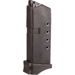 ProMag Magazine For Glock 43 9mm Luger 6 Rounds Polymer Black GLK 12