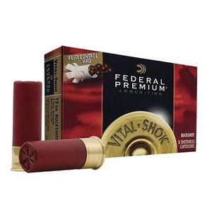 """Federal Vital-Shok 12 Gauge Ammunition 5 Rounds 3"""" 00 Buck Copper Plated 12 Pellets 1325fps"""