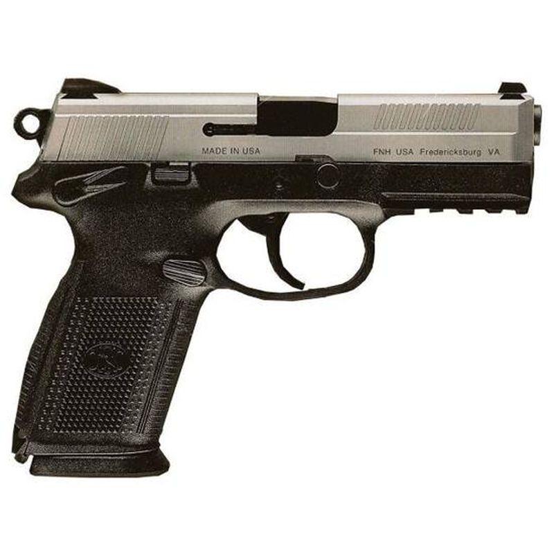 "FN FNX-9 Semi Auto Handgun 9mm Luger 4"" Barrel17 Rounds Fixed Sights Black Polymer Frame Stainless Slide 66826"