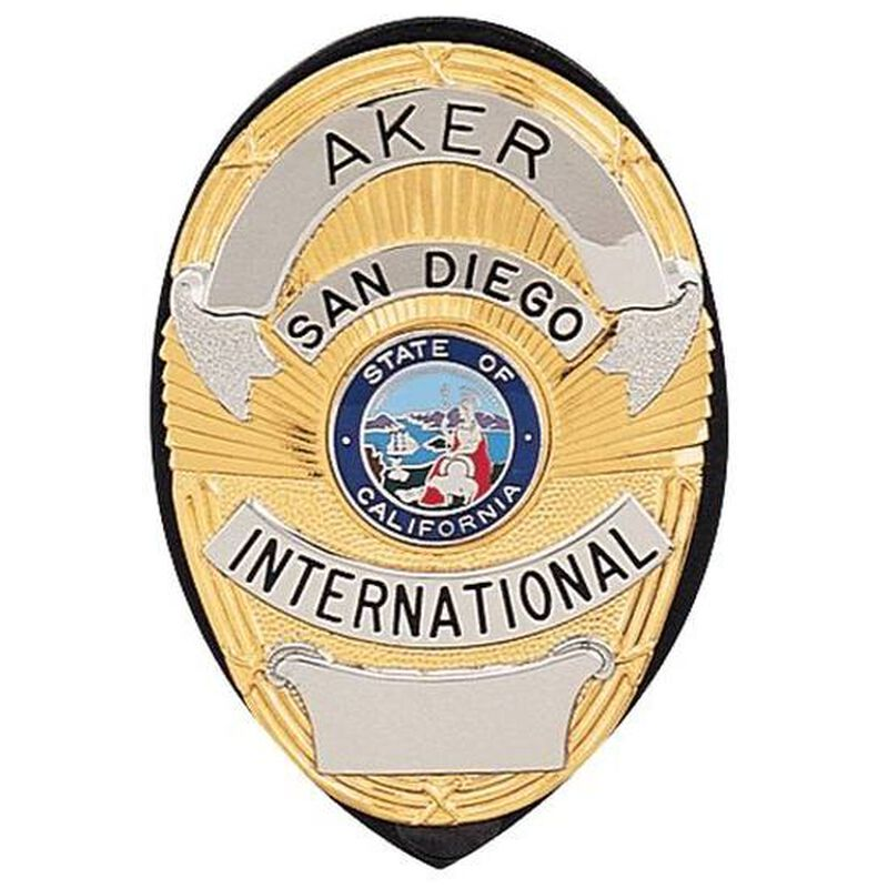 Aker Leather Clip On Shield Badge Holder