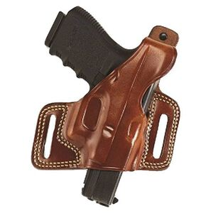 "Galco Silhouette Hide Ride Holster Colt 1911 Government/Commander/Officer Reinforced Thumb Break Left Hand 1.75"" Belt Loops Premium Saddle Leather Tan SIL213"