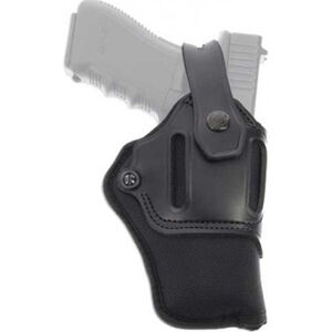 Galco Switchback Strongside/Crossdraw Belt Holster Fits GLOCK 17/22/31 and Similar Ambidextrous Nylon/Leather Black