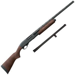 "Remington Model 870 Express Combo 12 Gauge Pump Action Shotgun 5 Rounds 18.5"" and 28"" Barrels 3"" Chamber Wood Stock Matte Black Finish"