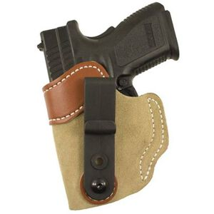 "DeSantis 106 Sof-Tuck IWB Holster Springfield XD 9/40 3"" Left Hand Leather Tan 106NB77Z0"