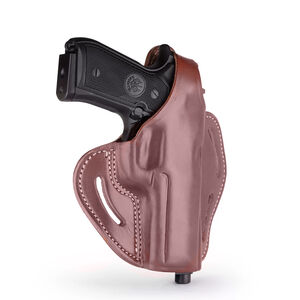 1791 Gunleather BHX-4 Dual Position OWB Thumb Break Belt Holster Alternative Full Size Semi Auto Models Right Hand Draw Leather Signature Brown