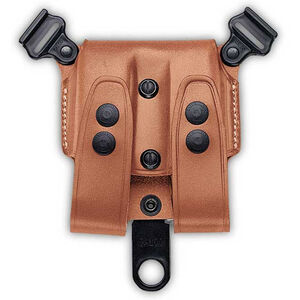 Galco SCL Beretta 92/96, GLOCK 17 Double Magazine Case Component for Shoulder System Leather Tan SCL24