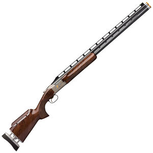 """Browning Citori 725 Trap Golden Clays 12 Gauge O/U Break Action Shotgun 32"""" Ported Barrels 2-3/4"""" Chambers 2 Rounds Gloss Walnut Stock Adjustable Comb Engraved Silver Receiver Polished Blued Finish"""