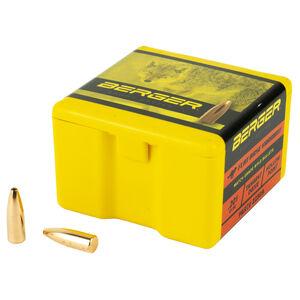 "Berger Varmint .22 Cal .224"" Bullets 52 Grain Flat Base Hollow Point 100 Count"