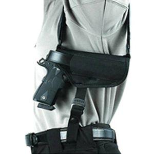 "BLACKHAWK! Horizontal Shoulder Holster 4"" Barrel Medium Frame Double Action Revolver Right Hand Black Nylon Shirt Size M-XL 40HS02BK-MD"