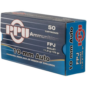 Prvi Partizan PPU 10mm Auto Ammunition 50 Rounds 170 Grain FPJ 1115fps