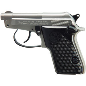 "Beretta 21A Bobcat .22 LR DA/SA Semi Auto Rimfire Pistol 2.4"" Barrel 7 Rounds Synthetic Grips Inox Finish"