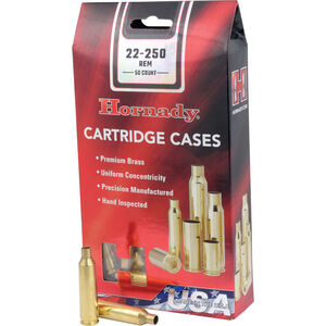 Hornady .22-250 Remington 50 Unprimed Brass Cartridge Cases