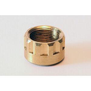 "LongShot Ribbed Thread Protector .578""-28 for Hi-Point 1095TS, 4095TS & 4595TS w/ Threaded Muzzle Polished Brass"
