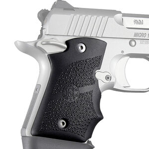 Hogue Kimber Micro 9 Ambi Safety Rubber Grip with Finger Grooves Black