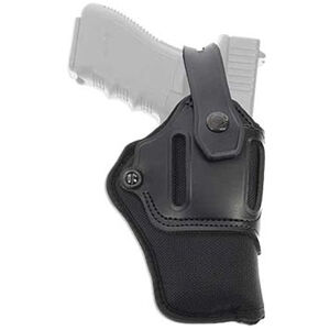 """Galco Switchback Strongside/Crossdraw Belt Holster Fits S&W K & L Frame With 4"""" Barrel and Similar Ambidextrous Nylon/Leather Black"""