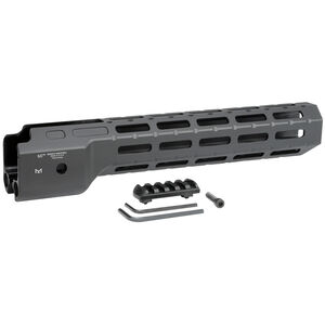 """Midwest Industries M-LOK Hand Guard Compatible with Ruger PC Carbine 12"""" Length 6061 Aluminum Matte Black Finish"""