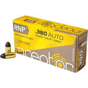 Polycase Inceptor Sport Utility.380 ACP Ammunition 50 Rounds 60 Grain Cu/P RNP Bullet