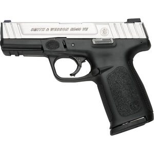 "S&W SD40 VE .40 S&W Semi Auto Pistol 4"" Barrel 14 Rounds Stainless Slide Black Polymer Fame"