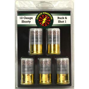 "Exotic Shorty 12 Gauge Mini Ammunition 5 Rounds 1.75"" #1 Buck/#7.5 Bird Shot 00511"