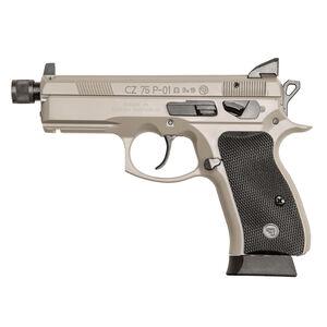 "CZ P-01 Omega Suppressor Ready Semi Auto Pistol 9mm Luger 4.4"" Threaded Barrel 16 Rounds Suppressor Height Night Sights Urban Grey Finish"