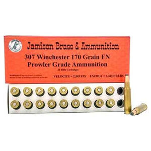 Jamison .307 Winchester Ammunition 20 Rounds Flat Nose 170 Grains 307WIN-170PRL