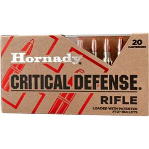 Hornady .223 Remington Critical Defense Ammunition 20 Rounds FTX HP 55 Grains 80270