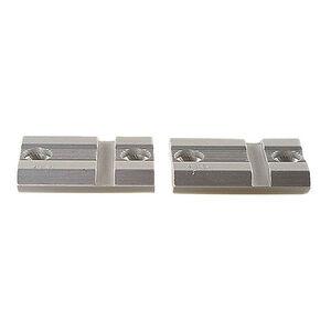 Weaver 418S Top Mount Aluminum 2 Piece Base Silver