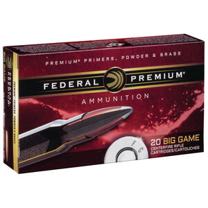 Federal Premium 7mm Remington Magnum Ammunition 20 Rounds Sierra Gameking SP 165 Grains P7RE
