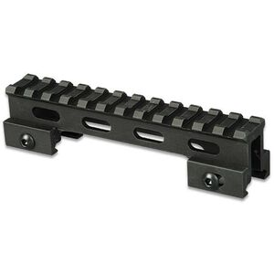 "Lion Gears AR-15 Tactical 1"" Riser Mount 12 Slots 5"" Long Aluminum Black BM1210"