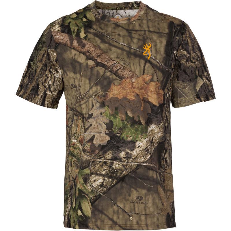 Browning Wasatch-CB Mens Camo T-Shirt Small Short Sleeve Regular Fit Cotton MOBUC