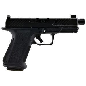 """Shadow Systems MR920 Combat 9mm Luger Compact Semi Automatic Pistol 4.5"""" Threaded Barrel 15 Rounds Optic Cut Slide Tritium Night Sights Polymer Frame Black/Black Finish"""