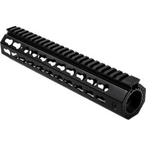 "NcSTAR AR15 10"" Free Float Key-Mod Handguard with Barrel Nut Aluminum Black"