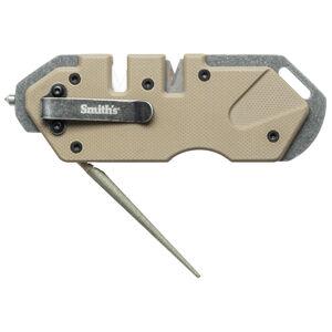 Smiths Products PP1 Tactical Sharpener Fine, Coarse Carbide, Ceramic, Diamond Sharpener G10 Desert Tan Handle