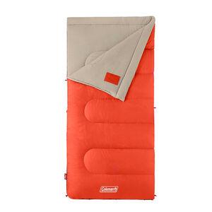 Coleman Oak Point 30°F Big and Tall Sleeping Bag Orange