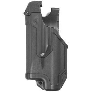 BLACKHAWK! Epoch Glock 17, 19, 22, 23, 31, 32 Level 3 Light Bearing Duty Holster Polymer Left Hand Matte Black 44E000BK-L