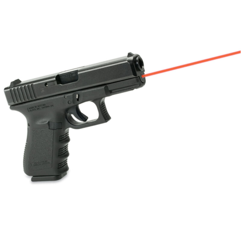 LaserMax Guide Rod Laser Sight System Red Laser for GLOCK 19/23/32/38 Gen 1-3 Handguns  Only Drop In Replacement Guide Rod/Spring Assembly