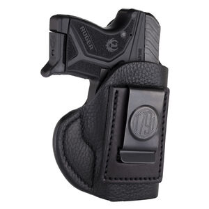 1791 Gunleather Smooth SCH-1 Multi-Fit IWB Concealment Holster for Pocket Semi Auto Pistols Right Hand Draw Leather Black