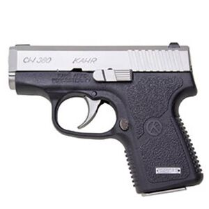 "Kahr CW380 Semi Auto Pistol .380 ACP 2.58"" Barrel 6 Rounds Combat Rear Sight/Night Sight Front Black Polymer Frame Matte Stainless Steel Slide Finish CW3833N"