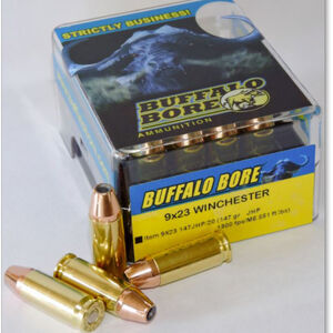 Buffalo Bore 9x23 Winchester Ammunition 20 Rounds JHP 147 Grains 9x23 147JHP/20