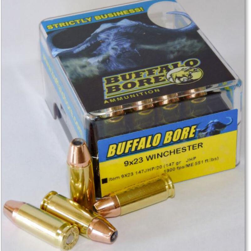 Buffalo Bore 9x23 Winchester Ammunition 20 Rounds JHP 147 Grains 9x23 147JHP/20