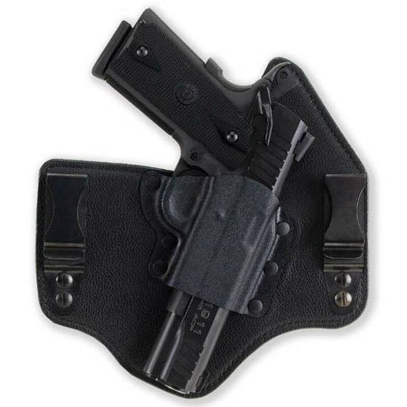 """Galco 1911 KingTuk IWB Holster 3"""" Barrel Right Hand Kydex and Leather Black Finish KT218B"""