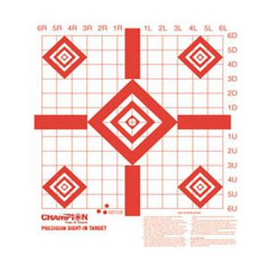"""Champion Redfield Style Precision Sight In Target 16""""x15.75"""" 10 Pack 47388"""